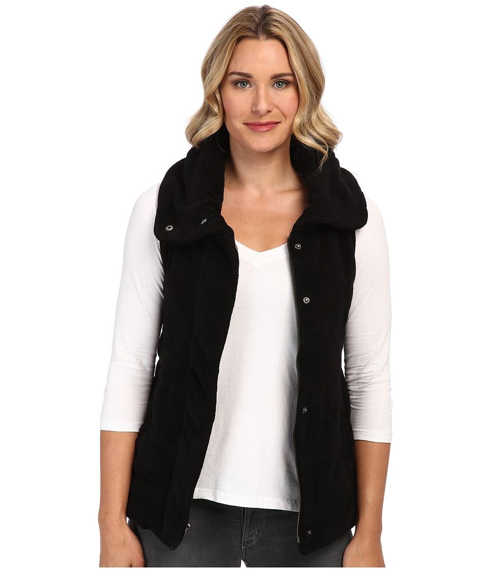 Mod-o-doc - Sherpa Quilted Vest (Black) Women's Vest