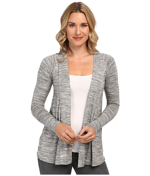 Mod-o-doc - Space Dyed Twist Back Cardigan (Charcoal Heather) Women