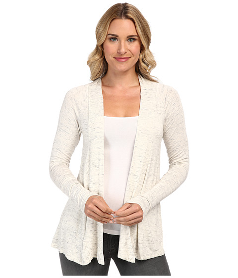 Mod-o-doc - Space Dyed Twist Back Cardigan (Pearl Heather) Women's Sweater