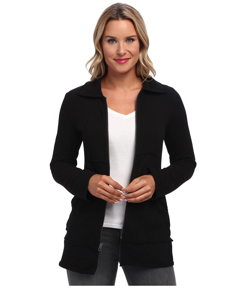 Mod-o-doc - Cotton Spandex Fleece Zip Jacket (Black) Women
