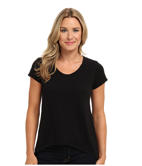Mod-o-doc - S/S Hi-Low Hem Tee (Black) Women's T Shirt