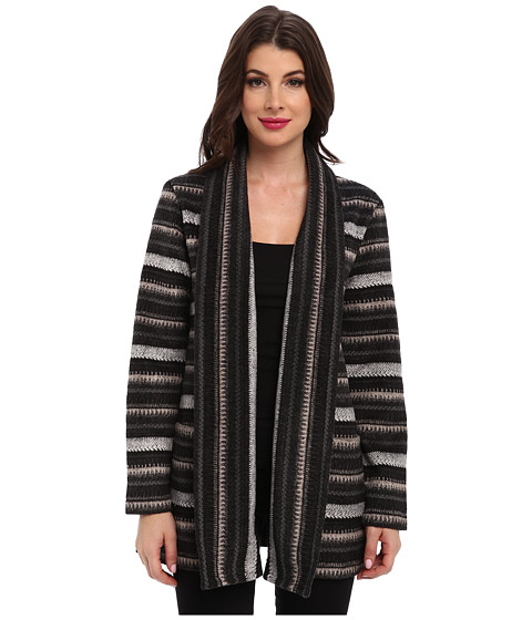 Mod-o-doc - Open Shawl Collar Cardigan (Black) Women's Sweater