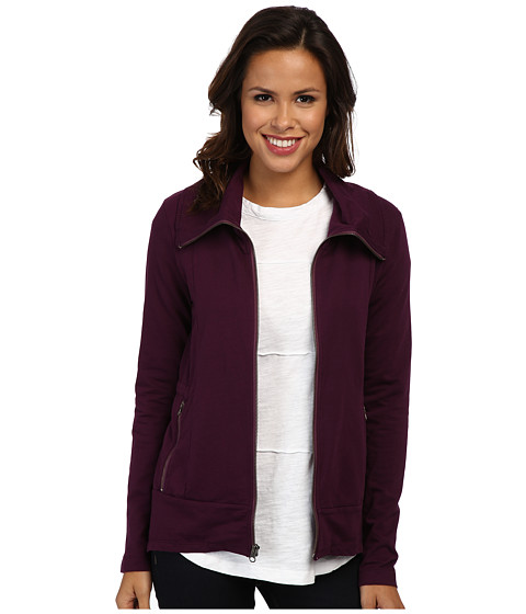 Mod-o-doc - Lightweight French Terry Zip Front Riding Jacket (Blackberry) Women's Jacket