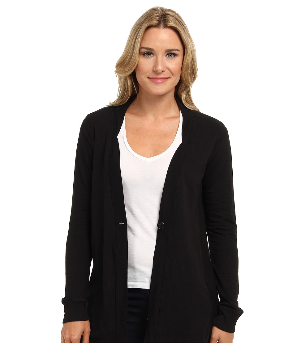 Mod-o-doc - Lightweight French Terry 1-Button Cardigan (Black) Women