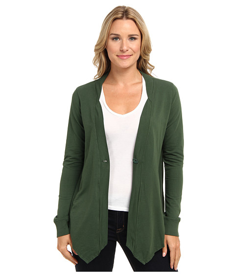 Mod-o-doc - Lightweight French Terry 1-Button Cardigan (Spruce) Women