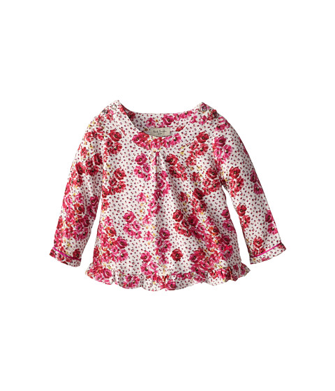 Paul Smith Junior - Flower Printed Tuniqe With Collar And Ruffles At The Hem (Infant) (Sweet Pink) Girl