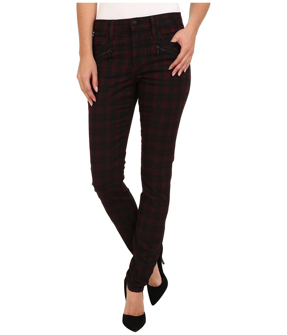 Joe's Jeans - In Line Zip Skinny in Coated Red Plaid (Coated Red Plaid) Women's Jeans