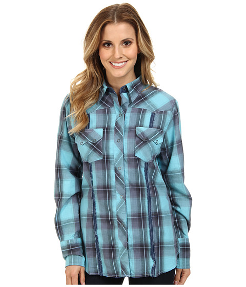 Roper - 9405 Green River Plaid (Blue) Women