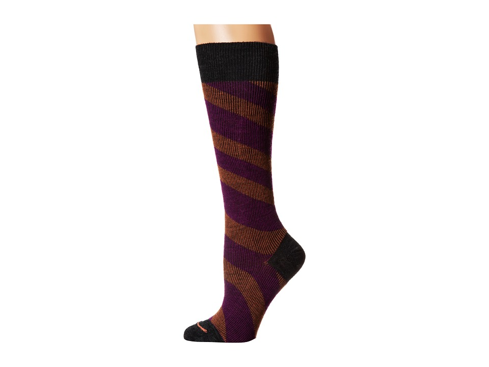 Fits - Center City Knee High (Incline Stripe Charcoal) Women's Knee High Socks Shoes