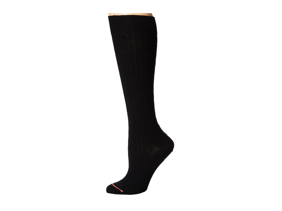 Fits - Center City Knee High (Cable Black) Women's Knee High Socks Shoes