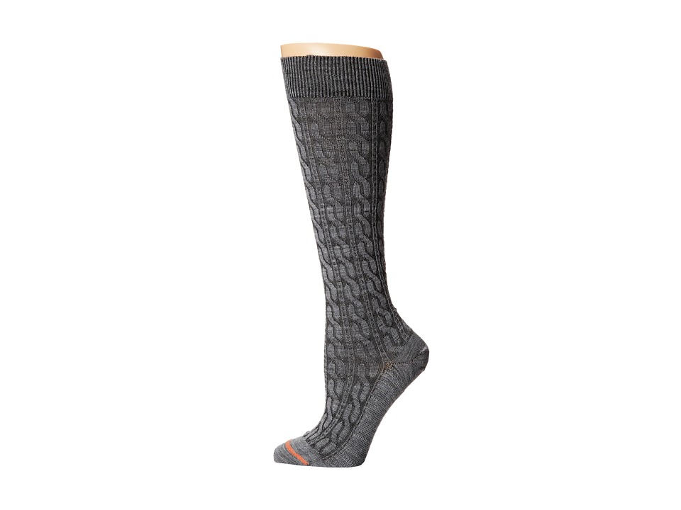 Fits - Center City Knee High (Cable Heather Grey) Women's Knee High Socks Shoes