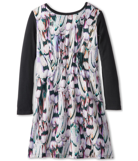 Paul Smith Junior - Dress With Color Print/Black Sleeves And Elastic Waist Band (Big Kids) (Anthra Grey) Girl's Dress
