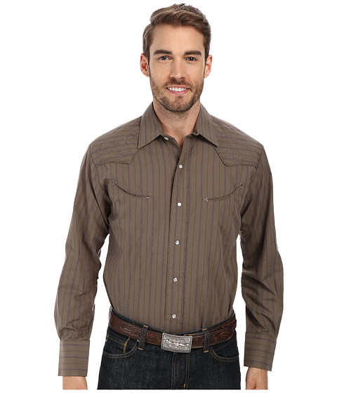 Roper - 9448 Olive Stripe (Green) Men