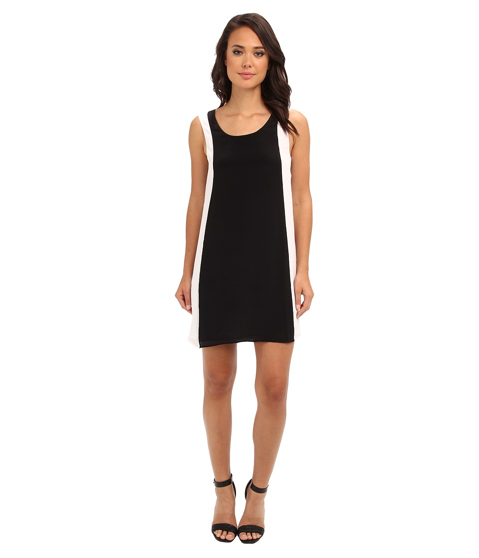 Aryn K - Tank Color Block Dress (Black/White) Women's Dress