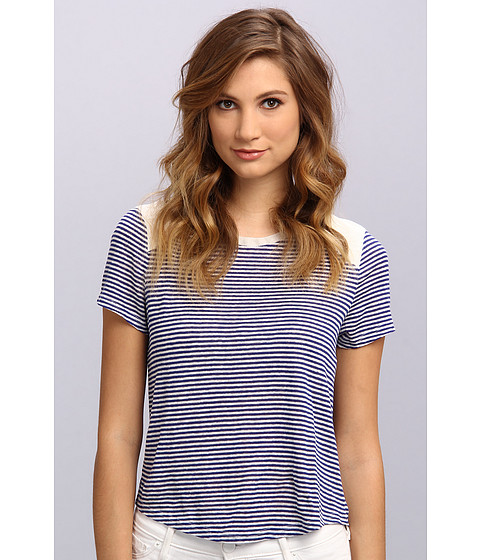 Townsen - S/S Alison Stripes Top (Deep Sea Blue) Women