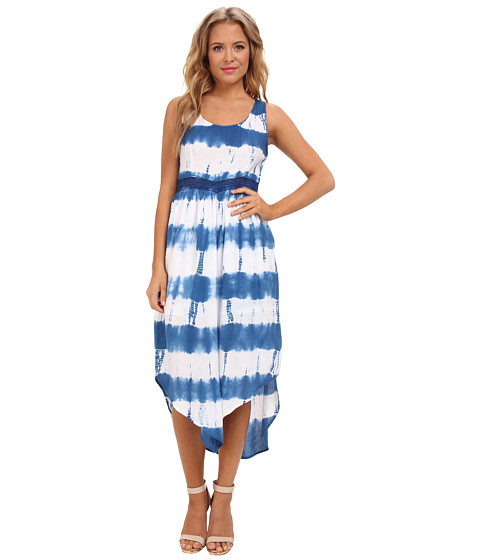 Aryn K - Tie Dye Maxi (Blue/White) Women's Dress