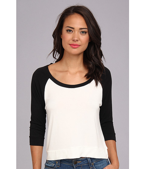 Townsen - Calico Cat 3/4 Sleeve Top (White) Women