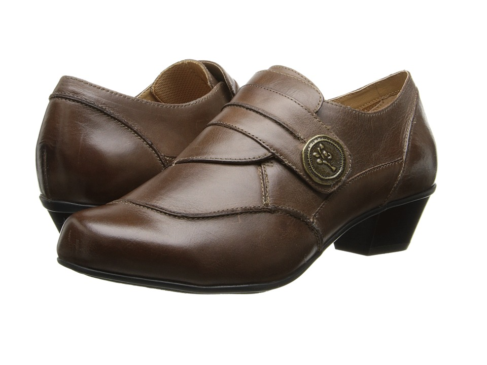 Aetrex Danielle Monk Strap (Brown) Women