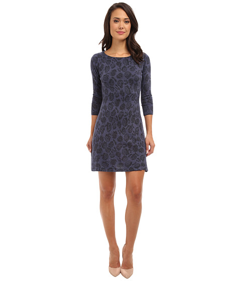 Yumi - Roses Kitted Dress (Blue) Women's Dress