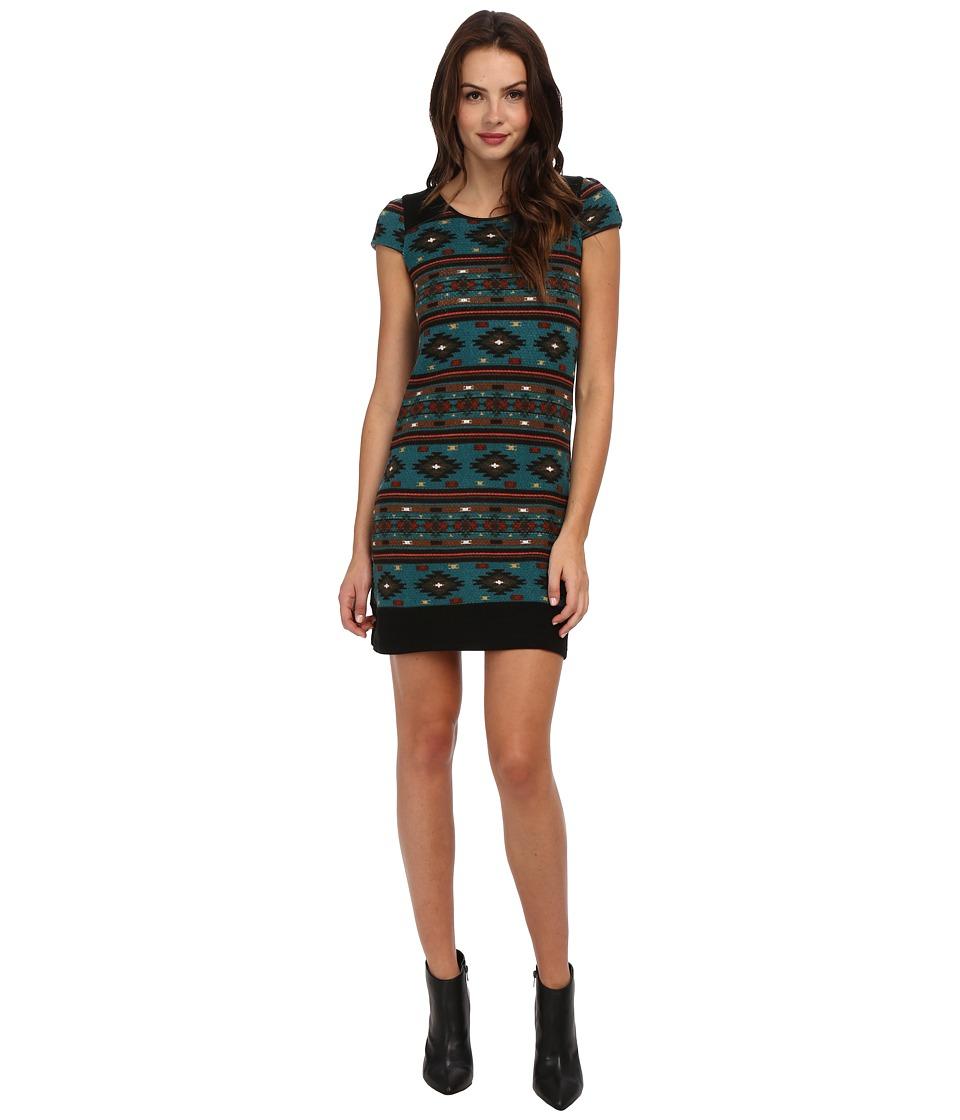 Yumi - Aztec Tribal Dress (Teal) Women's Dress