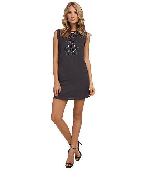 Yumi - Tribal Galaxy Embellished Dress (Grey) Women's Dress