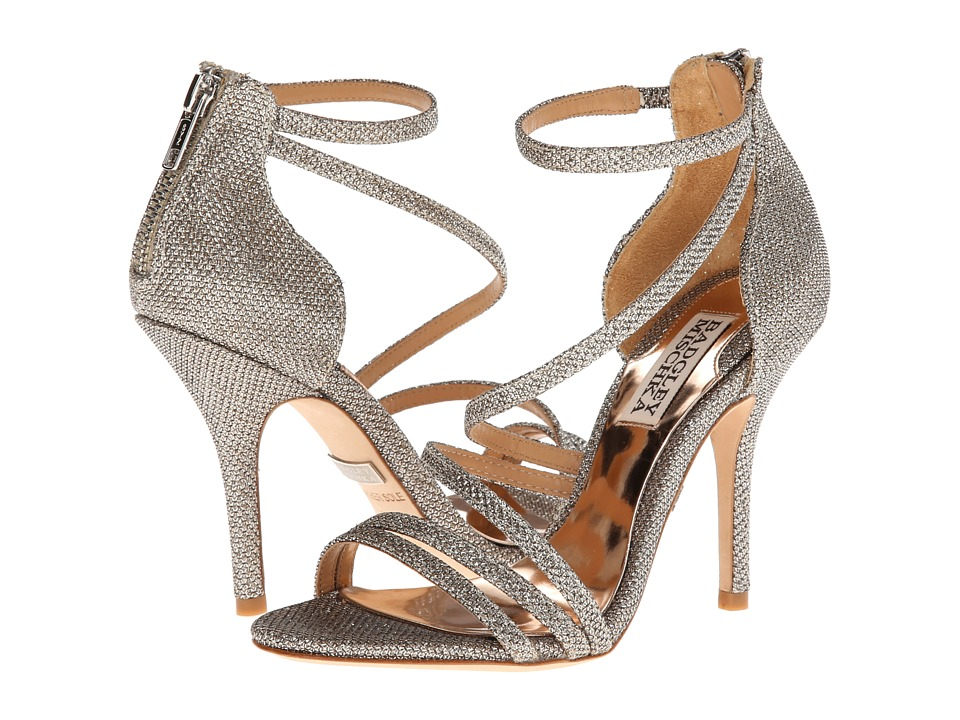 Badgley Mischka Landmark (Platino Diamond Drill Fabric) High Heels
