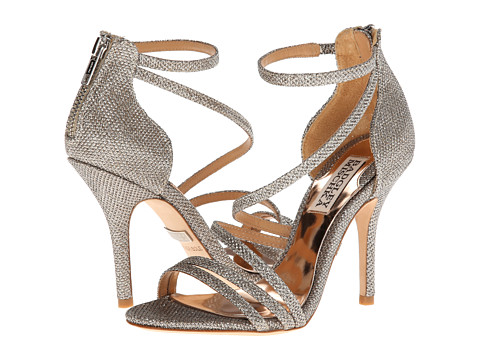 Badgley Mischka - Landmark (Platino Diamond Drill Fabric) High Heels