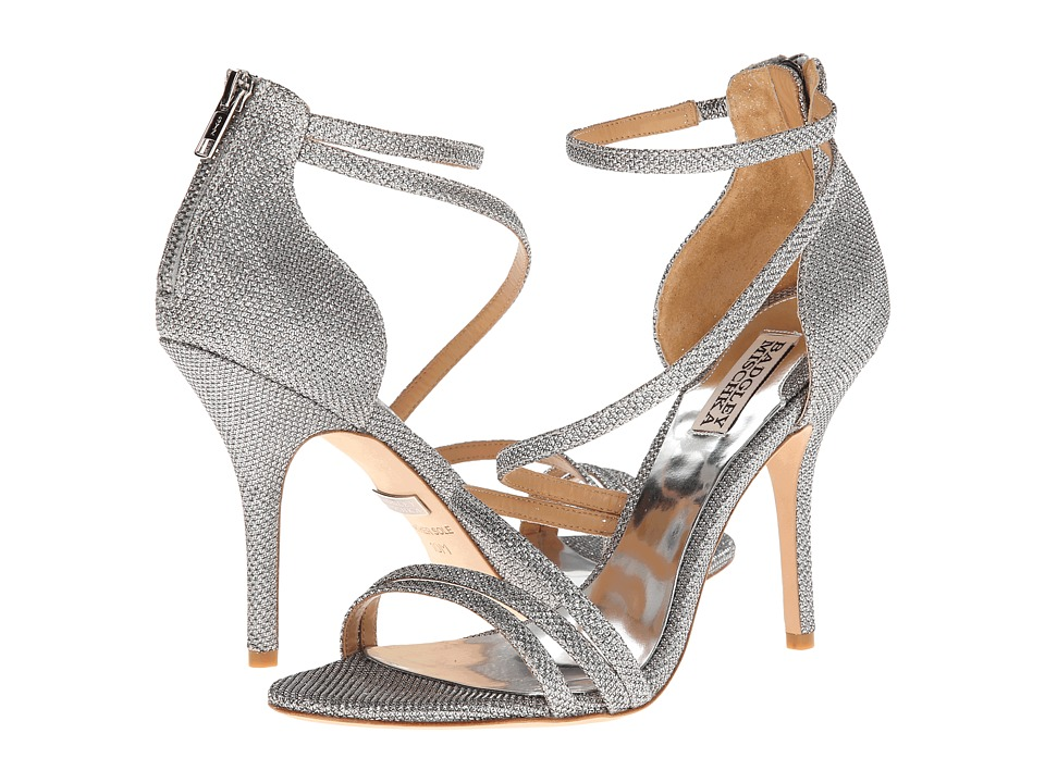 Badgley Mischka Landmark (Silver Diamond Drill Fabric) High Heels