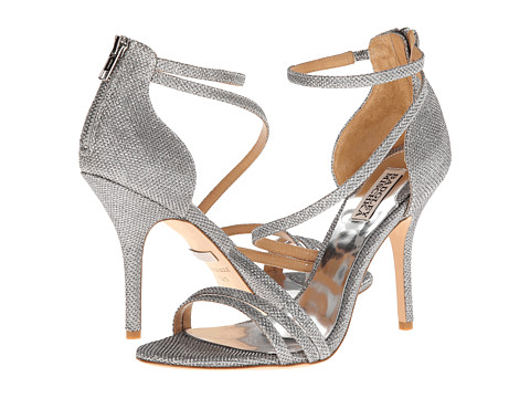 Badgley Mischka - Landmark (Silver Diamond Drill Fabric) High Heels