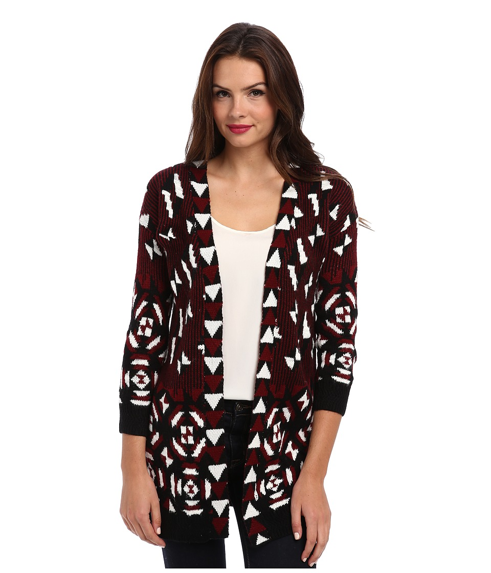 Yumi - Aztec Cardigan (Multi-Colour) Women's Sweater