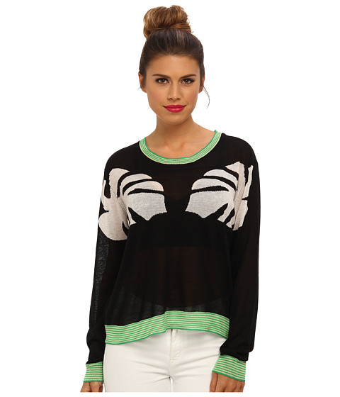 Townsen - L/S Twin Palms Sweater (Black) Women
