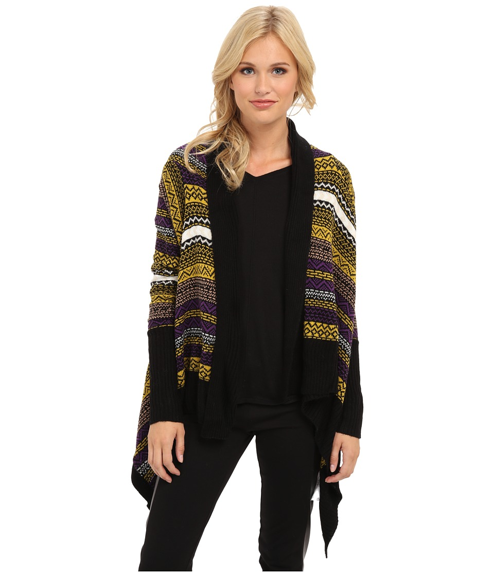 Yumi - Aztec Waterfall Cardigan (Multi-Colour) Women