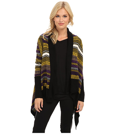 Yumi - Aztec Waterfall Cardigan (Multi-Colour) Women's Sweater