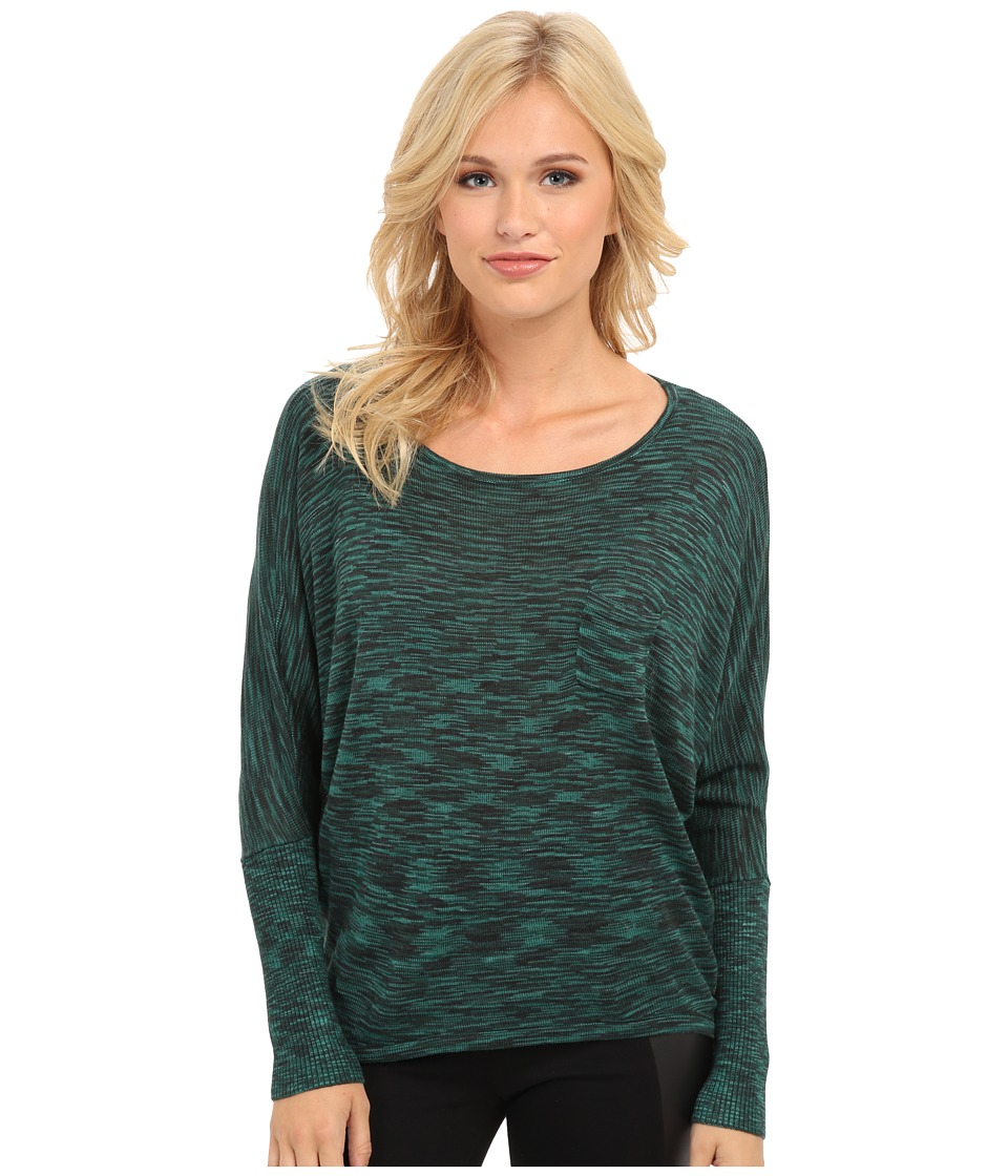 Yumi - Space Dye Jumper (Green) Women's Long Sleeve Pullover