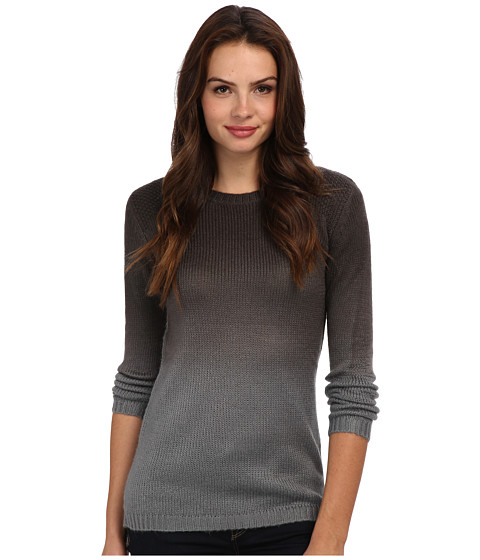 Yumi - Dip Dye Tunic (Charcoal) Women's Sweater