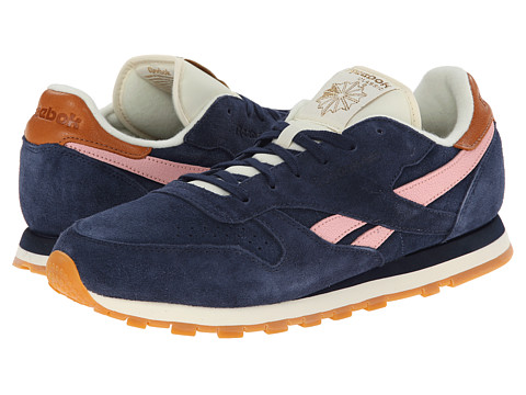 Reebok - Classic Leather Suede (Collegiate Navy/Patina Pink/Cream White/ Brass) Women's Classic Shoes