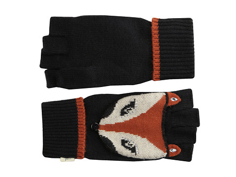 Yumi - Fox Face Gloves (Black) Dress Gloves