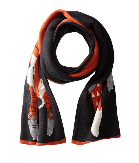 Yumi - Fox Head Tail Scarf (Black) Scarves