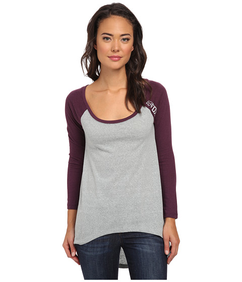 Fox - Cloak Up Baseball Tunic (Heather Grey) Women's Long Sleeve Pullover