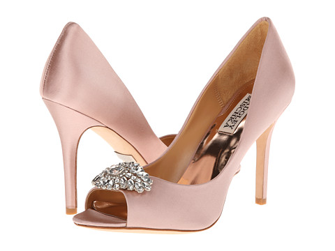 Badgley Mischka - Lavender II (Blush Satin) High Heels