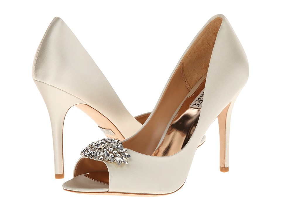 Badgley Mischka - Lavender II (Ivory Satin) High Heels