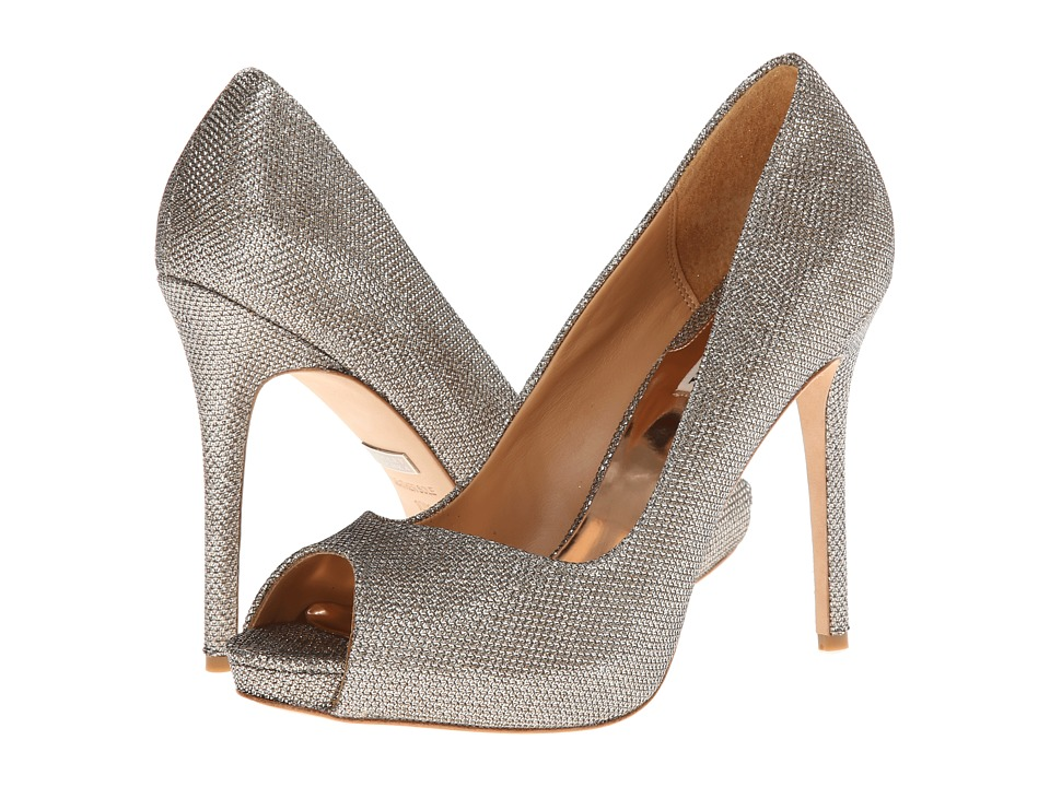 Badgley Mischka - Kassidy II (Platino Diamond Drill Fabric) High Heels