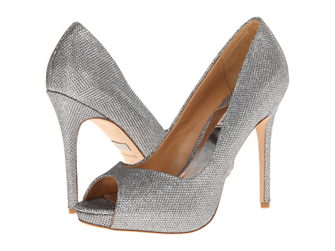 Badgley Mischka - Kassidy II (Silver Diamond Drill Fabric) High Heels