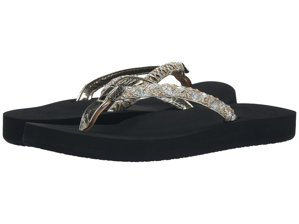 Reef - Twisted Star Cushion (Black/Champagne) Women's Sandals