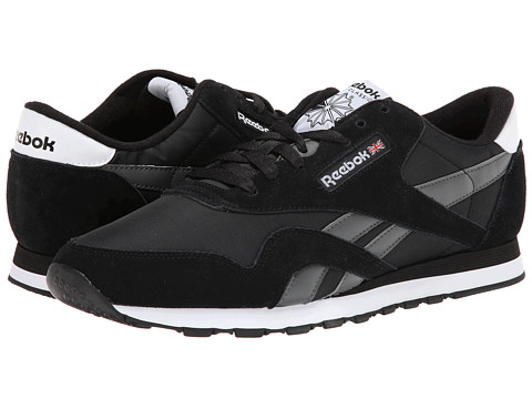 Reebok Lifestyle - Classic Nylon R13 (Black/Rivet Grey/White) Men