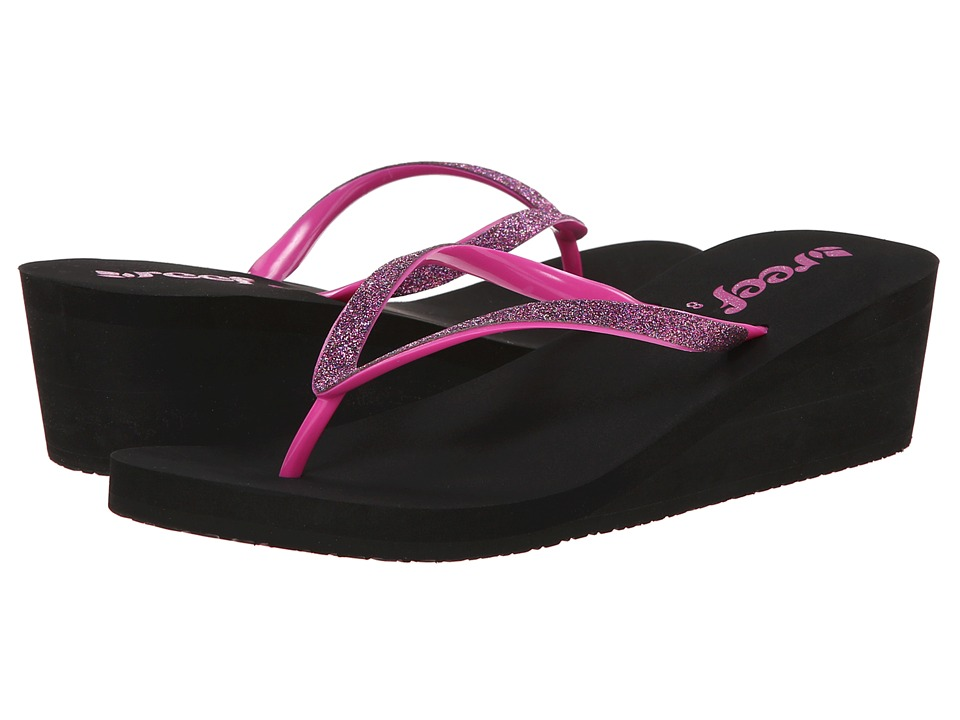 Reef - Krystal Star (Black/Berry) Women's Sandals