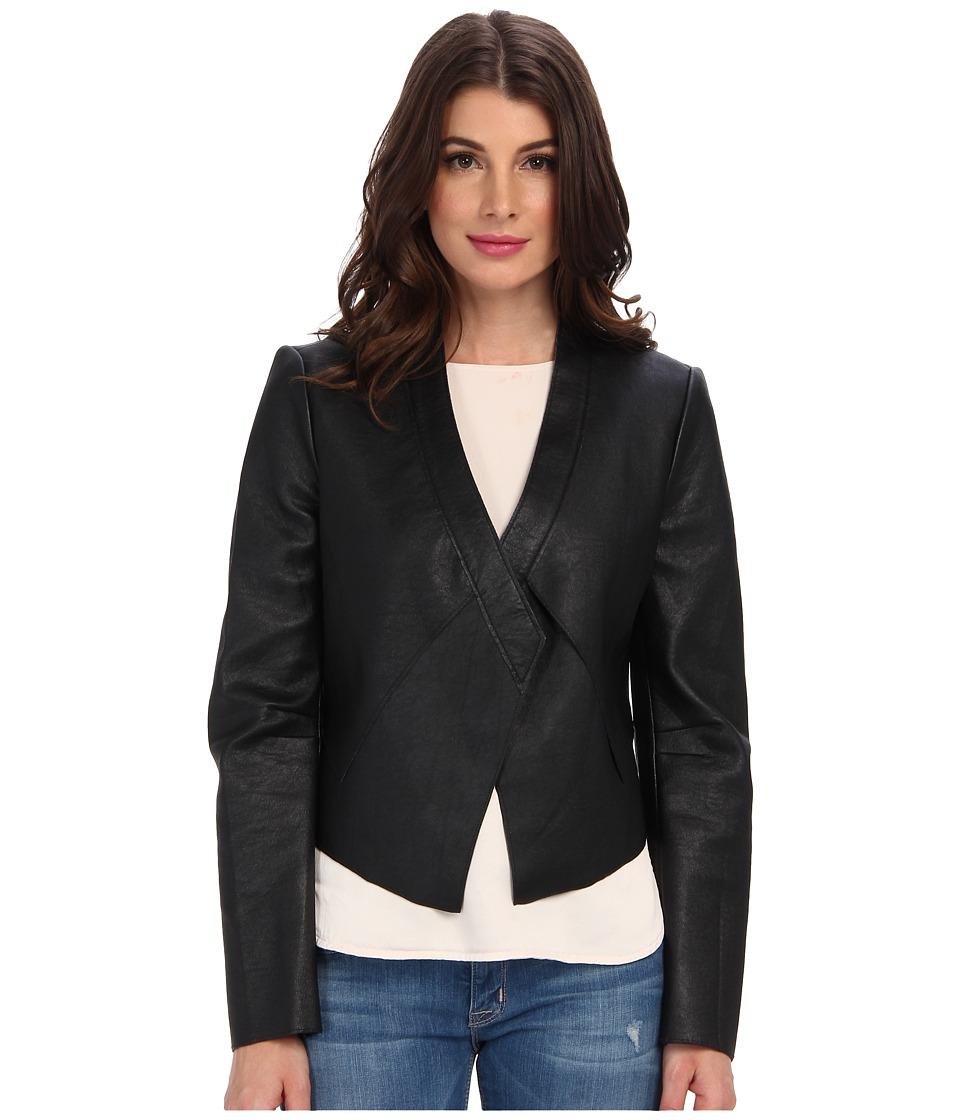 BCBGMAXAZRIA - Lloyd Bonded Pleather Jacket (Black) Women's Coat