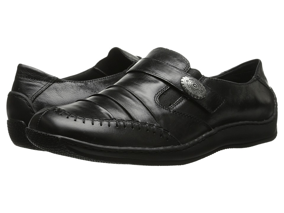 Walking Cradles Bistro (Black Waxy Wash Leather) Women