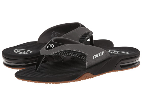 Reef - Fanning Prints (Grey/Stripe) Men's Sandals