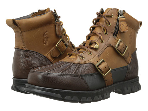 Polo Ralph Lauren - Demond (Briarwood Pitstop/Tan Desperado) Men's Shoes